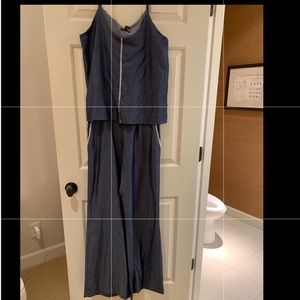 Drew Sz M chambray jumpsuit new with tags